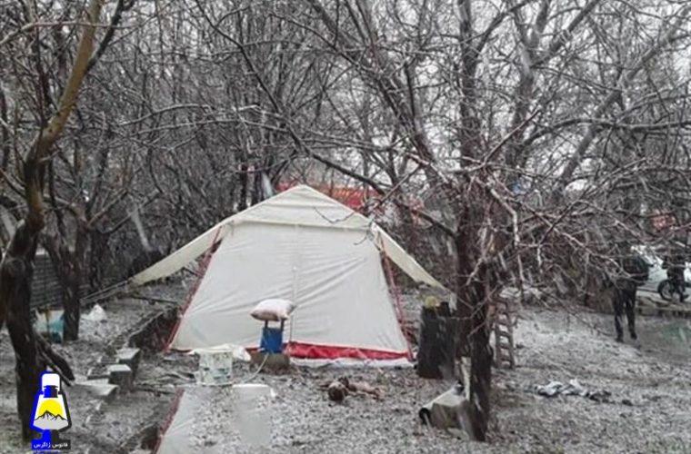زندگی چادری در دنا با سرمای زیر صفر درجه جریان دارد