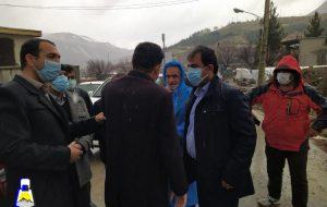 سفر خداداد غریب پور به شهر زلزله زده سی سخت+تصاویر