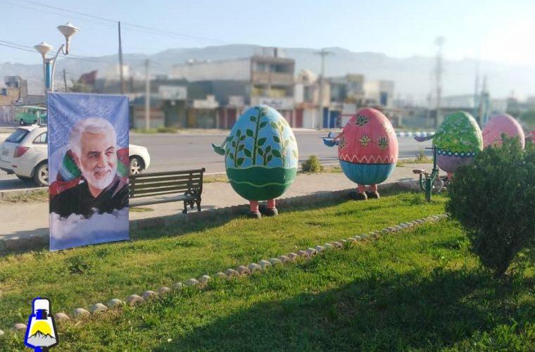 سفره های هفت سین شهرداری دوگنبدان به «سین هشتم؛ سردار سلیمانی» مزین شد+عکس