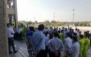 تجمع کارگران نفت و گاز  پارس جنوبی عسلویه در اعتراض به برخی مطالبات قانونی+تصاویر